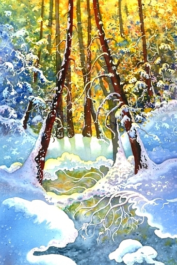 From Winter To Spring Original Painting By Joyce Major